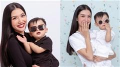 Loạt khoảnh khắc đáng yêu của con trai Á hậu Thuý Vân vừa tròn 1 tuổi