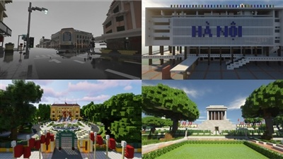 'Du lịch' Hà Nội qua dự án tái hiện công trình kiến trúc, danh lam thắng cảnh của nhóm game thủ