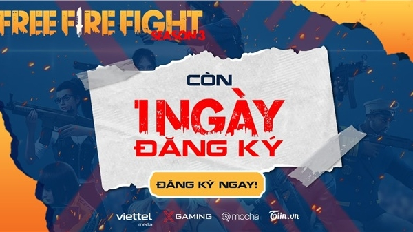 Cấp báo: Chỉ còn 1 ngày để đăng ký tham gia giải đấu Free Fire Fight S3