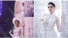 Miss Universe 2020: Khánh Vân gặp sự cố trong phần thi trang phục dân tộc