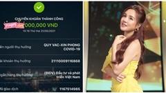 Thực hư tin đồn Vy Oanh bị nghi dùng sao kê tiền từ thiện 'fake' để làm màu