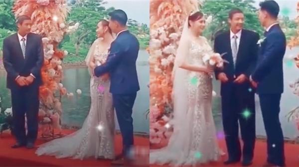 'Hương vị tình thân': Ông Sinh ăn mặc vest bảnh bao, đại diện nhà gái trong lễ cưới của Nam và Long?