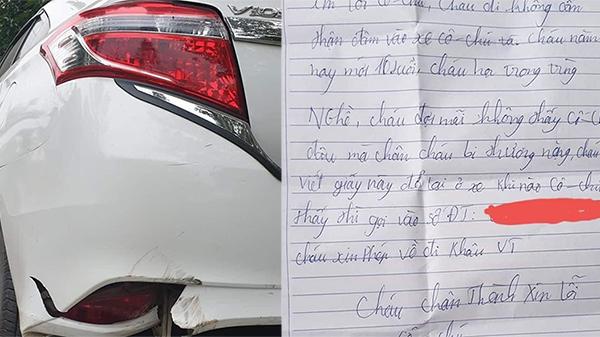Lời xin lỗi chân thành của cậu bé 16 tuổi trót đâm vào xe ô tô khiến nữ tài xế cảm động