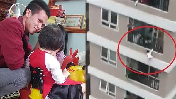 Bé gái rơi từ chung cư tầng 12 lần đầu gặp mặt người cứu mình: Gọi bố Mạnh xưng con, nói lời cảm ơn đầy xúc động