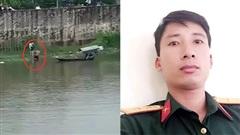 Khoảnh khắc Thượng úy quân đội lao xuống sông cứu cô gái có ý định tự tử ở Hà Nam gây 'bão' mạng xã hội