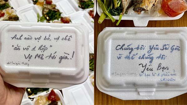 Những lời nhắn tâm tình trên từng hộp cơm gửi đến bệnh nhân Covid-19 gây 'bão' mạng xã hội
