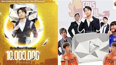 Cris Phan là streamer đầu tiên đạt nút Kim cương YouTube