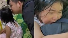 Clip: Nhìn thấy bố sau thời gian xa cách, bé gái khóc nức nở nhìn mà thương