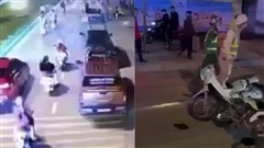 Clip: Nhóm thanh niên vừa 'phóng nhanh vượt ẩu' vừa quay Tiktok gây tai nạn cho người phụ nữ đi đường ở Ninh Bình