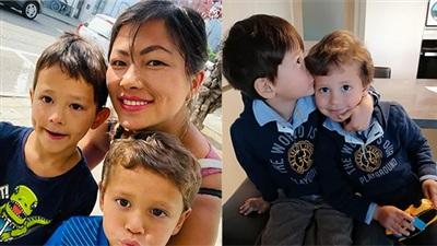 Clip: 2 cậu con trai của 'cô bé H'mong' nói tiếng Việt cực chuẩn, ngoại hình lai cưng xỉu