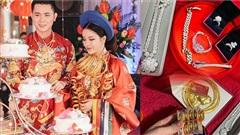 Đám cưới toàn vàng gây bão: Nhà trai gửi gắm 50 cây vàng cùng bộ kim cương 20 tỷ, nhà gái đáp lễ 'sương sương' căn nhà 20 tỷ