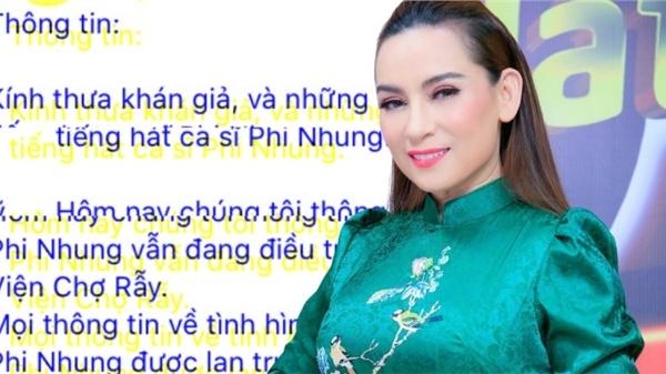 Nhiễu tin về Phi Nhung, Trung tâm Thuý Nga thông báo tình hình mới nhất của nữ ca sĩ