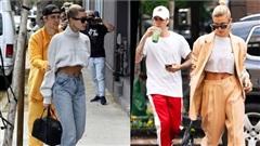 Phong cách thời trang đối lập của cặp đôi Justin - Hailey Bieber, chồng nhí nhốcòn vợ như đi 'Fashion Show'
