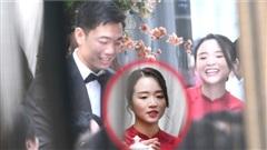 Zoom cận cảnh nhan sắc của cô dâu Ngô Mai Nhuệ Giang trong lễ ăn hỏi sáng nay với Xuân Trường