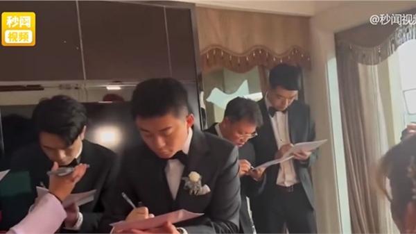 Chú rể làm bài test IELTS Listening trong ngày đón dâu khiến dân mạng toát mồ hôi hột