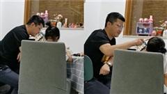 Tự tin kiên nhẫn hơn vợ, ông bố 'nổi điên' sau 10 phút kèm con gái làm bài tập