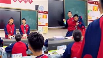 Thầy giáo mặc đồng phục ẩn mình giữa lớp học và cảnh tiếp theo khiến dân mạng bật cười