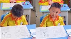 Mới phát đề được 10 phút, học trò đã ngồi chơi, cô giáo định trách phạt nhưng xem kết quả phải 'đứng hình'