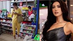 'Team qua đường' bắt trọn khoảnh khắc Minh Tú diện style 'Thúy Liễu' đi siêu thị giữa mùa dịch