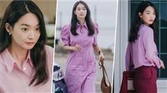 'Bắt bài' chị đẹp Shin Min Ah của 'Hometown ChaChaCha' siêu mê màu hồng, 50 sắc thái hồng diện màu nào cũng mê mới hay
