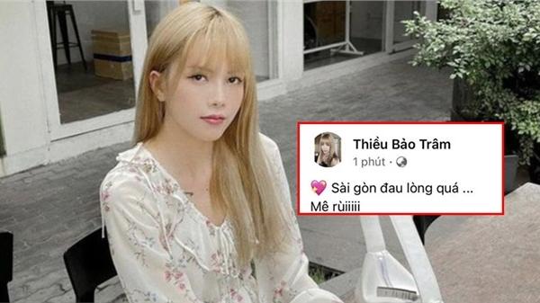 Thiều Bảo Trâm đăng status vỏn vẹn vài từ 'Sài Gòn đau lòng quá', fan hỏi nhỏ: Quá đúng tâm trạng phải không?