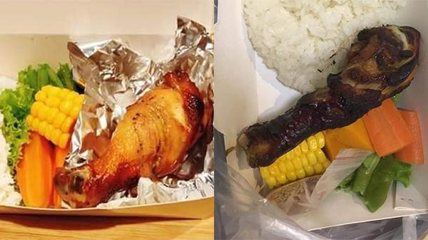 Đặt phần cơm eatclean, cô gái ngậm ngùi nhận về đùi gà đen khét: 'Chỉ vì dùng mã giảm giá sao?'