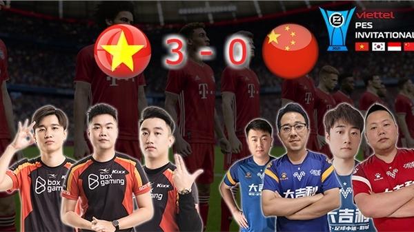 Viettel PES Invitational ngày 13/8: Việt Nam đánh bại hoàn toàn Trung Quốc với kết quả 3 - 0