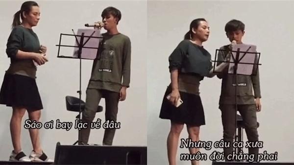Giữa ồn ào bóc lột con nuôi, dân mạng truyền tay nhau clip Phi Nhung ân cần dạy hát cho Hồ Văn Cường