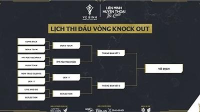 Lịch thi đấu vòng knockout giải đấu Vệ Binh Ánh Sáng hạng mục sinh viên