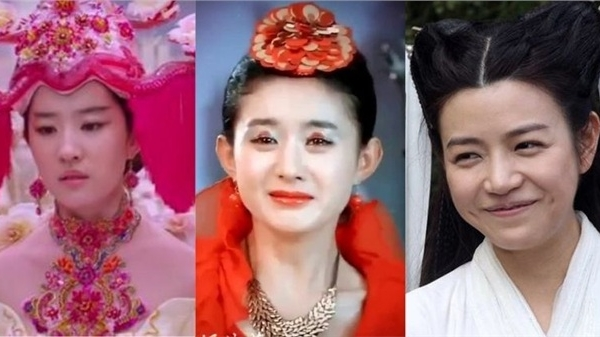 Phì cười trước tạo hình của mỹ nhân Trung Quốc trong phim cổ trang: Lưu Diệc Phi bê mâm ngũ quả lên đầu, Triệu Lệ Dĩnh chơi hẳn combo cá chép