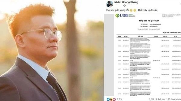 'Cậu IT' Nhâm Hoàng Khang tung sao kê quỹ từ thiện của nữ đại gia rồi nhanh chóng tuyên bố một điều khiến ai cũng 'ngã ngửa'