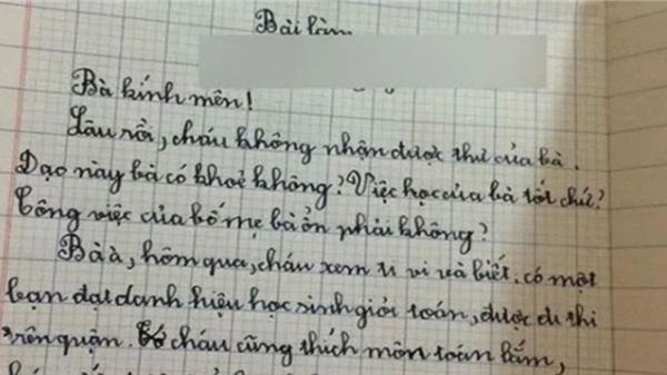 Màn viết thư gửi bà gây 'sóng gió' của học sinh tiểu học: 'Việc học của bà tốt chứ? Bố mẹ bà có khỏe không?'